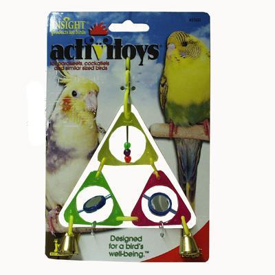 JW Triangle Dangle Interactive Small Bird Toy