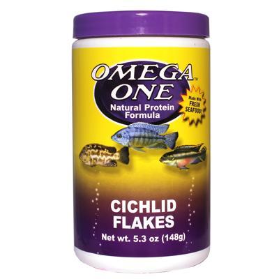 Omega one cichlid flakes fish food 5 3 ounce aquar food for Omega one fish food