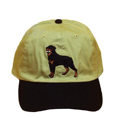 Cap 100% Cotton with Embroidered Rottweiler