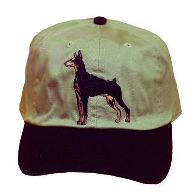 Cap 100% Cotton with Embroidered Doberman