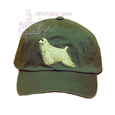 Cap 100% Cotton with Embroidered Cocker Spaniel Buff
