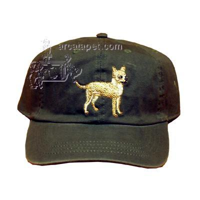 Cap 100% Cotton with Embroidered Chihuahua
