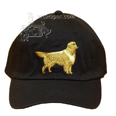 Cap 100% Cotton with Embroidered Golden Retriever