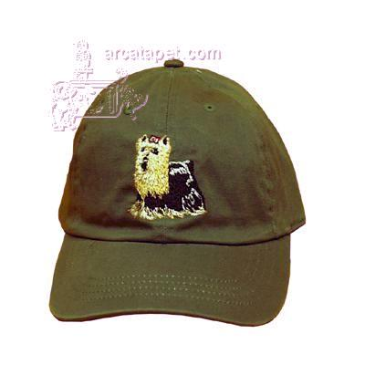 Cap 100% Cotton with Embroidered Yorkshire Terrier