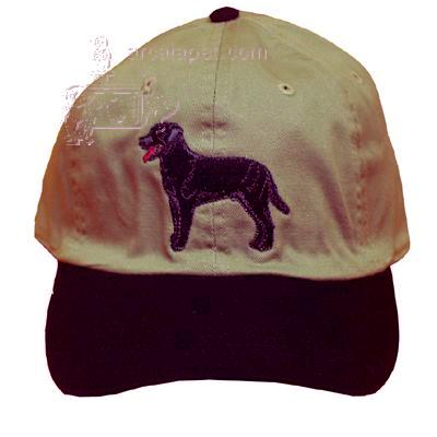 Cap 100% Cotton with Embroidered Labrador Black Retriever