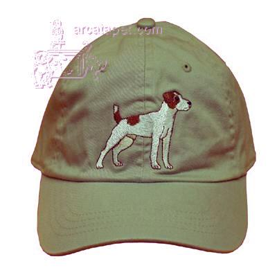 Cap 100% Cotton with Embroidered Jack Russell Terrier