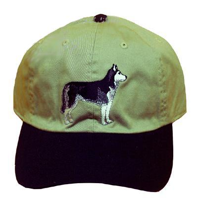Cap 100% Cotton with Embroidered Siberian Husky