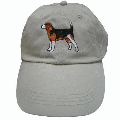 Cap 100% Cotton with Embroidered Beagle