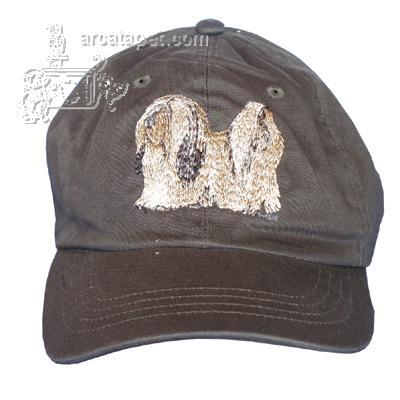Cap 100% Cotton with Embroidered Lhasa Apso