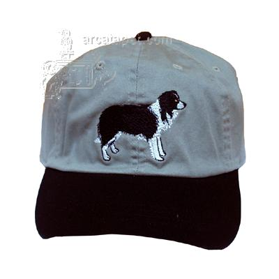 Cap 100% Cotton with Embroidered Border Collie