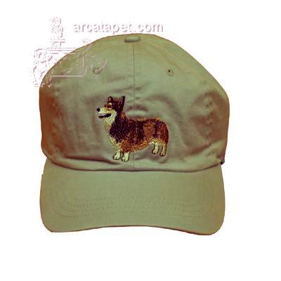 Cap 100% Cotton with Embroidered Welsh Corgi