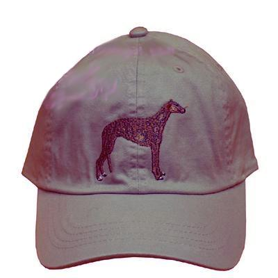 Cap 100% Cotton with Embroidered Greyhound