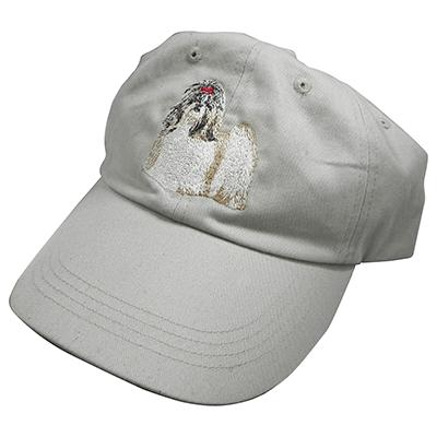Cap 100% Cotton with Embroidered Shih Tzu