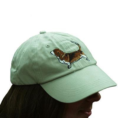 Cap 100% Cotton with Embroidered Basset Hound