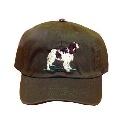Cap 100% Cotton with Embroidered Springer Spaniel