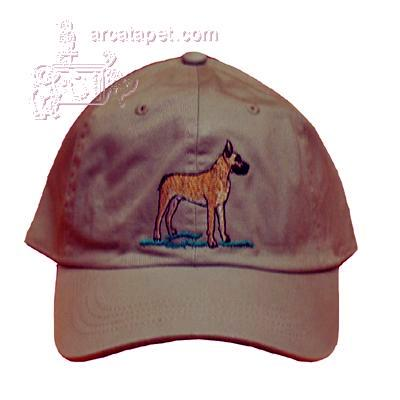 Cap 100% Cotton with Embroidered Great Dane