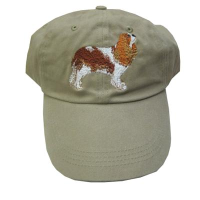 Cap 100% Cotton with Embroidered Cavalier Spaniel