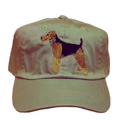 Cap 100% Cotton with Embroidered Airedale Terrier