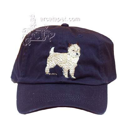 Cap 100% Cotton with Embroidered Cairn Terrier