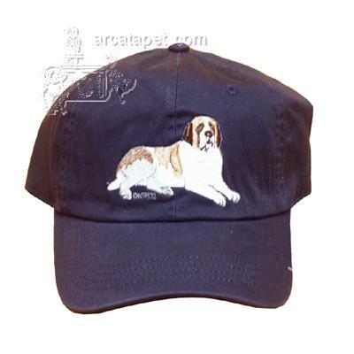 Cap 100% Cotton with Embroidered Saint Bernard