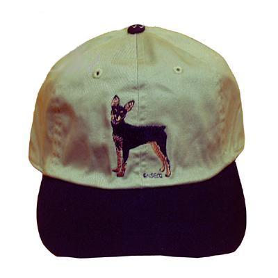 Cap 100% Cotton with Embroidered Minature Pinscher