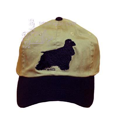 Cap 100% Cotton with Embroidered Cocker Spaniel Black