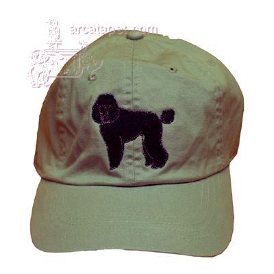 Cap 100% Cotton with Embroidered Poodle Black