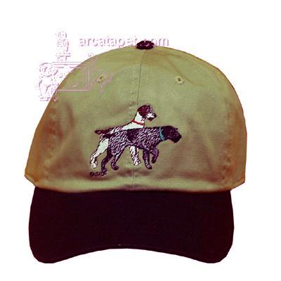 Cap 100% Cotton with Embroidered German Wire Hair Pointer