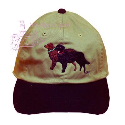 Cap 100% Cotton with Embroidered Flat Coated Retriever