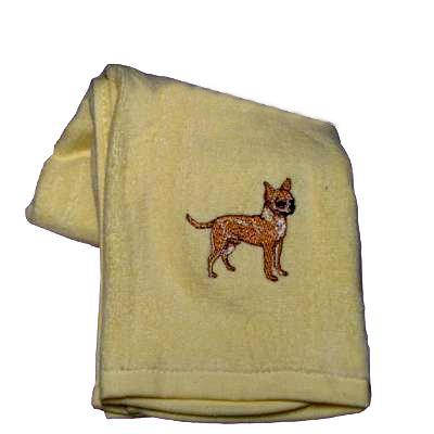 Cotton Terry Cloth Dog Hand Towel with Embroidered Chihuahua