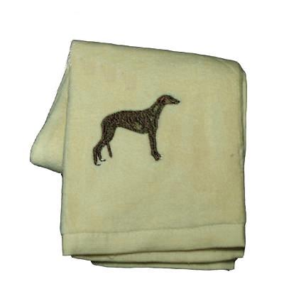 Cotton Terry Cloth Dog Hand Towel with Embroidered Greyhound