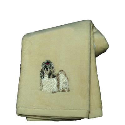Cotton Terry Cloth Dog Hand Towel with Embroidered Shih Tzu