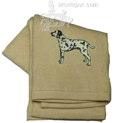 Cotton Terry Cloth Dog Hand Towel with Embroidered Dalmatian