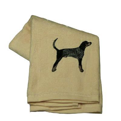 Cotton Terry Cloth Dog Hand Towel with Embroidered Blue Tick