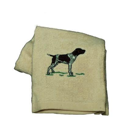 Cotton Terry Cloth Dog Hand Towel with German Shorthair