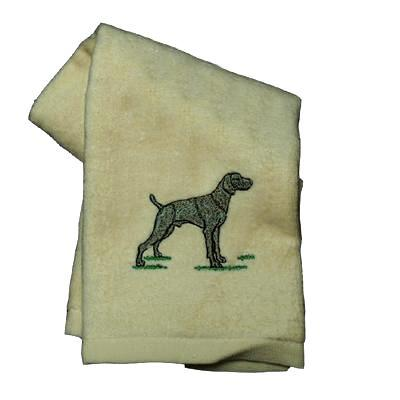 Cotton Terry Cloth Dog Hand Towel w/Embroidered Weimeraner