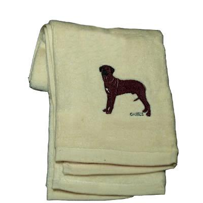 Cotton Terry Cloth Dog Hand Towel with Rhodesian Ridgeback