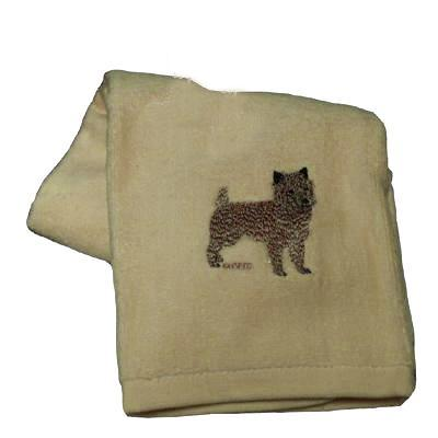 Cotton Terry Cloth Dog Hand Towel with Cairn Terrier