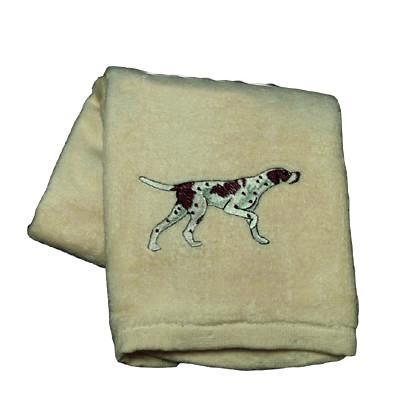 Cotton Terry Cloth Dog Hand Towel with English Pointer