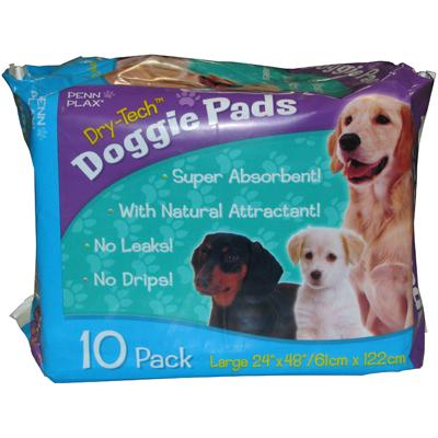 Dry-Tech Large Dog Housebreaking Pads 10 Pack