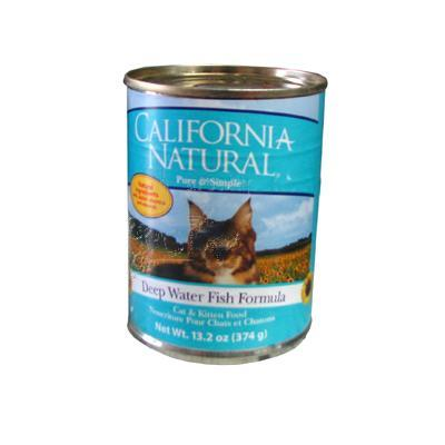 California Natural Deep Water Fish Can Cat Food Lg Single