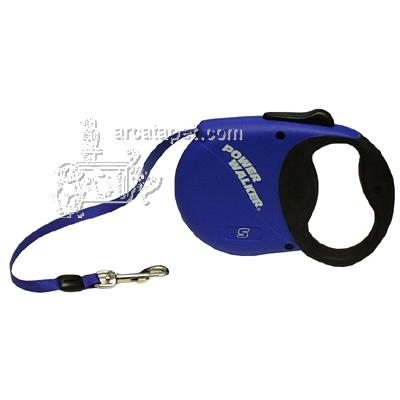Power Walker Retractable Dog Leash Small Blue