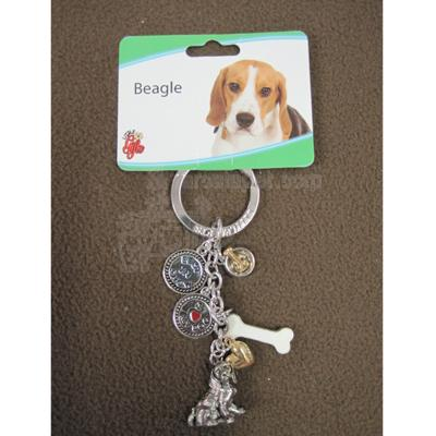 Key Chain Beagle with 5 Charms