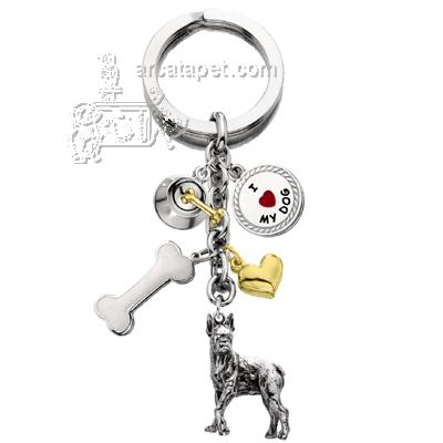 Key Chain Boxer with 5 Charms
