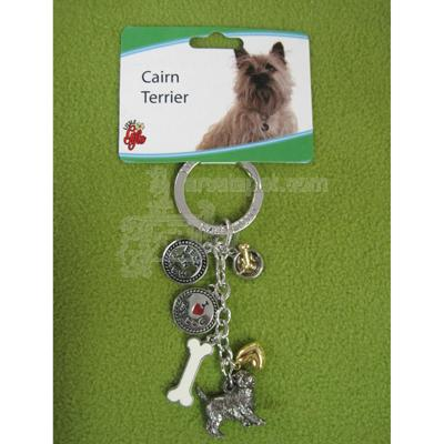 Key Chain Cairn Terrier with 5 Charms