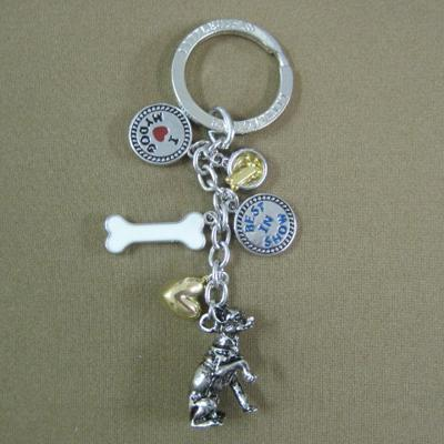 Key Chain Chihuahua with 5 Charms