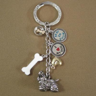 Key Chain Cocker Spaniel with 5 Charms