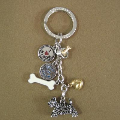 Key Chain Scottish Terrier with 5 Charms