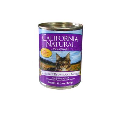 California Natural Venison/Brown Rice Cat Food Lg Can Single