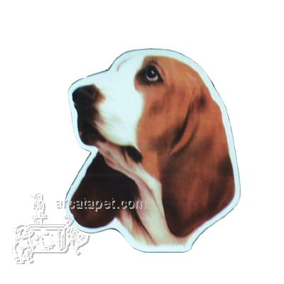 Vinyl Dog Magnet with Basset Hound Small